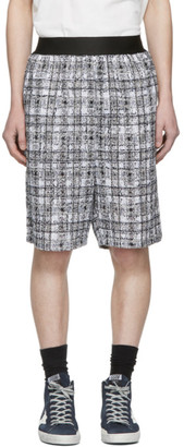 Faith Connexion SSENSE Exclusive Black and White Tweed Shorts