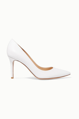 Gianvito Rossi 85 Leather Pumps - White