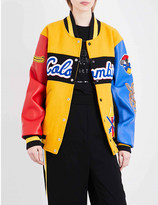 Opening Ceremony Colombia wool-blend and leather varsity jacket