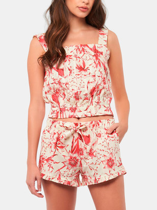 The Lazy Poet Cristi Tropical Paradise Red Pajama Set