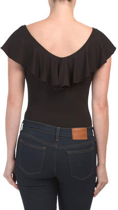 Veronica Flutter Sleeve Bodysuit