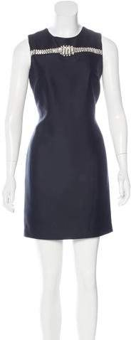 Thomas Wylde Embellished Silk-Blend Dress