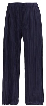 Pleats Please Issey Miyake Technical-pleated Trousers - Navy