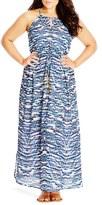 City Chic Plus Size Women's 'Copacabana' Print Maxi Dress