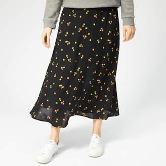 Whistles Women's Micro Floral Print Longline Skirt