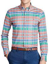 Polo Ralph Lauren Slim-Fit Plaid Stretch Oxford Long-Sleeve Woven Shirt