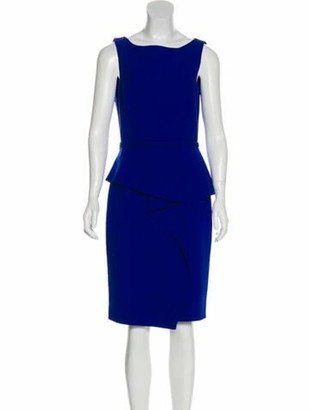 Oscar de la Renta Virgin Wool Sheath Dress wool