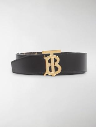Burberry reversible TB monogram belt