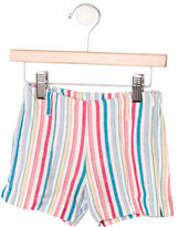 Il Gufo Girls' Striped Shorts