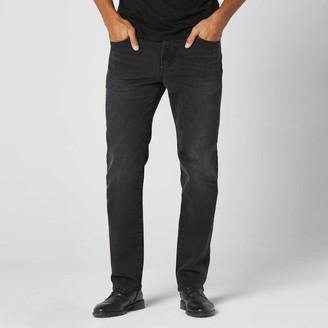 DSTLD Straight Jeans in Black Worn
