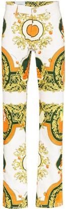 Casablanca Les Oranges print straight-leg jeans