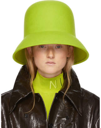 Nina Ricci Green Wool Hat