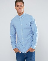 Tommy Hilfiger Shirt With Gingham Check In Ny Regular Fit Blue