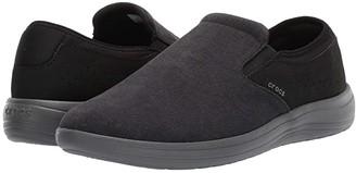 Crocs Reviva Canvas Slip-On (Black/Slate Grey) Men's Shoes