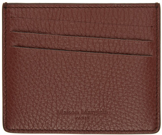 Maison Margiela Brown Leather Card Holder