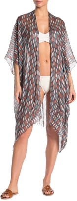 Pool To Party Paint Stroke Printed Kimono Cover-Up