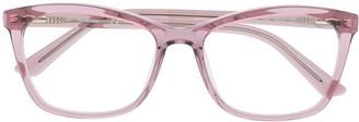 Calvin Klein Transparent Square-Frame Glasses