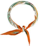 Hermes Pythagore Silk Plissé Scarf