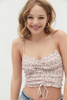 Urban Outfitters Sophie Ruched Cami - Pink L at