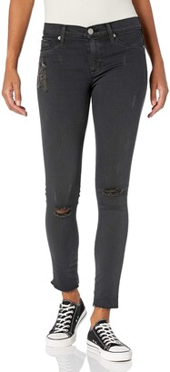 Hudson Women's Nico Midrise Ankle Skinny with Raw Hem