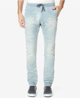 Buffalo David Bitton Men's Ripped Drawstring Jeans