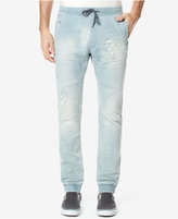 Buffalo David Bitton Men's Ripped Drawstring Stretch Jeans