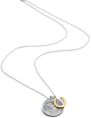 Harry Rocks Lucky Wren Coin & Gold Horseshoe Charm Necklace