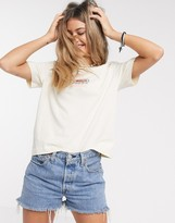 Quiksilver washed cropped t-shirt in white