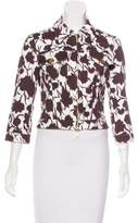 Celine Abstract Print Cropped Jacket