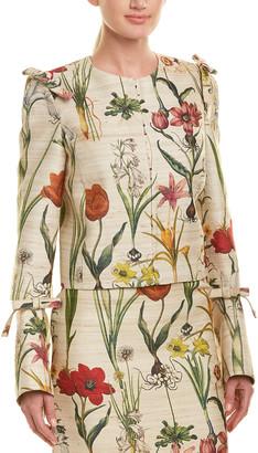 Oscar de la Renta Silk & Wool-Blend Jacket