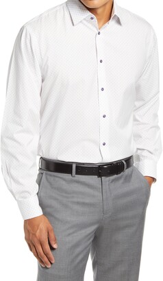 Nordstrom Traditional Fit Non-Iron Stretch Dress Shirt
