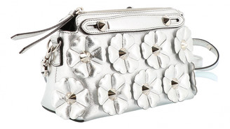 Fendi Silver Leather Handbags