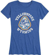 Instant Message Women's Women's Tee Shirts HEATHER - Heather Royal Blue 'Yellowstone' Relaxed-Fit Tee - Women