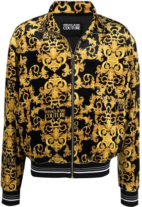 Versace Jeans Couture Signature Baroque Print Bomber Jacket