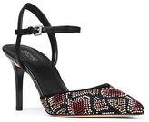 MICHAEL Michael Kors Ciara Embellished Suede Slingback Pumps