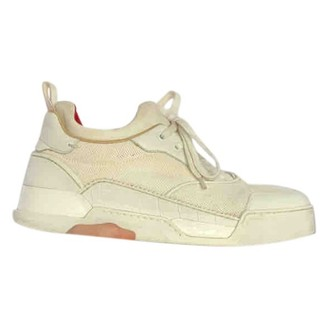 Christian Louboutin Beige Cloth Trainers