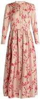 Brock Collection Disco long-sleeved floral-print silk-twill dress