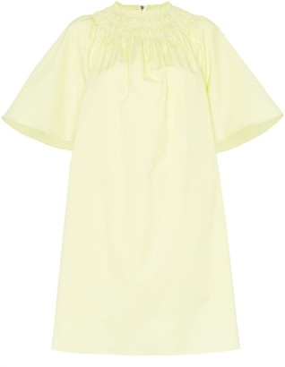 Roksanda lia mock neck cotton dress