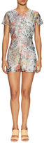 Lucca Couture Open Back Printed Organza Romper