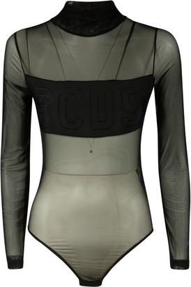 GCDS See-through Long-sleeve Bodysuit