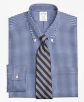 Brooks Brothers Stretch Milano Slim-Fit Dress Shirt, Non-Iron Ground Check