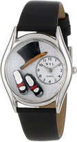 Whimsical Watches Women's S0510009 Tap Dancing Black Leather Watch