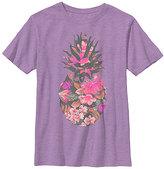 Fifth Sun Neon Purple Heather Florapple Tee - Boys