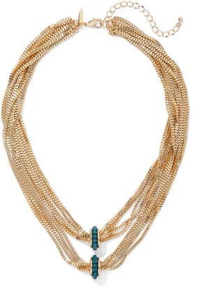 New York & Co. Faux-Turquoise Goldtone Layered Necklace