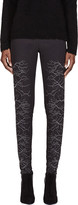 Gareth Pugh Grey and Silver Faille Embroidered Trousers