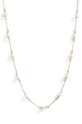 Knotty Imitation Pearl Necklace