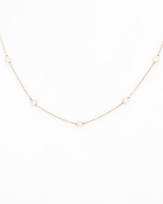 Diana M Fine Jewelry 14K Rose Gold 0.40 Ct. Tw. Diamond Necklace