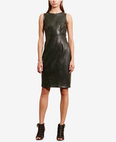 Lauren Ralph Lauren Petite Faux-Leather Sheath Dress