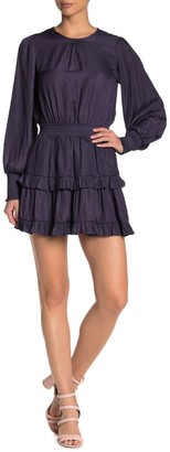Do & Be Tiered Smocked Cuff Mini Dress