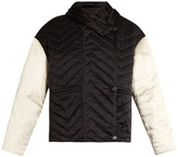 Isabel Marant Hector chevron-quilted silk coat